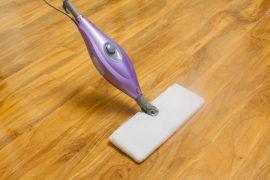 Using a steam mop on laminate floor.