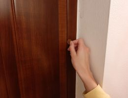 How to lock a door with a penny.