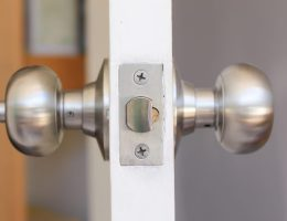 How to lock a door with no key or lock.