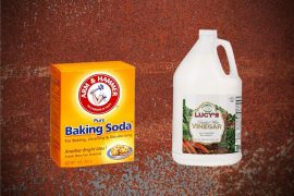 How to remove rust with vinegar and baking soda.