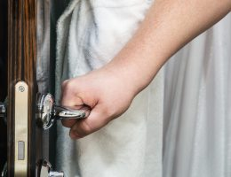 Soundproofing a Door with household items like curtains, blankets, mattresses, and more.