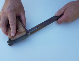 The right sandpaper type and grit to use on metal.