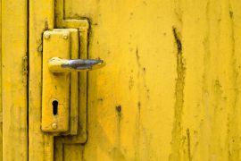 How to remove paint from metal doors.