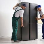 How to move a fridge without scratching the floor.