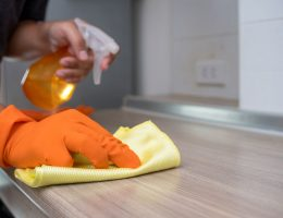 How to remove hard water stains on laminate countertops.