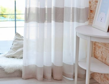 How to hang curtains without a rod.