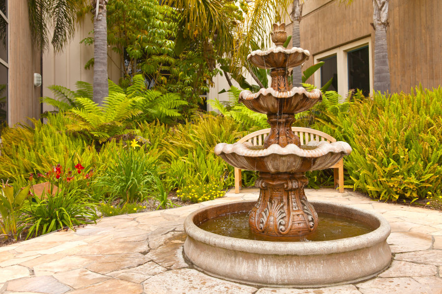 Outdoor water fountain.