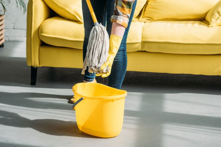 How to wring a mop without a wringer.