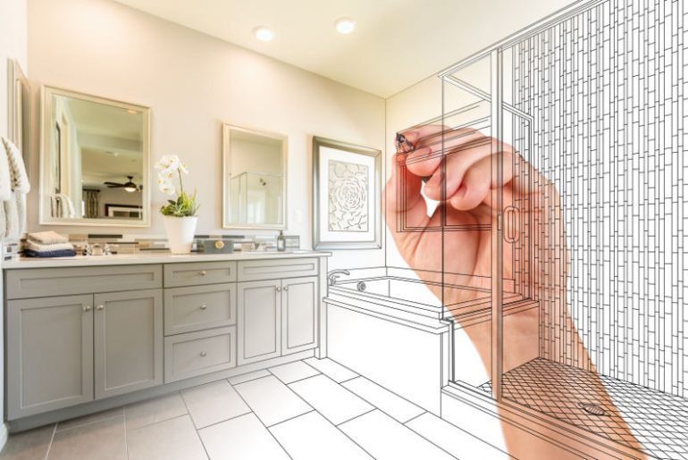 Remodeling the bathroom to add value to the property.