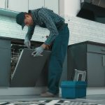 Common causes of standing water in a dishwasher, and the potential fixes to the problem.