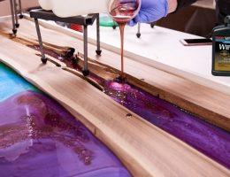 Putting polyurethane over epoxy.