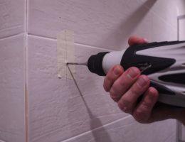 Drilling into porcelain tiles.